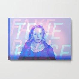 True False / Fake Real Metal Print