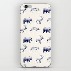 Wild Pattern // Blue iPhone & iPod Skin