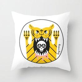 Drawing Tiger Throw Pillow