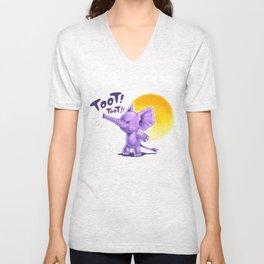 Mr Toot Toot Unisex V-Neck