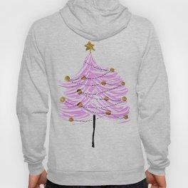 Pink Christmas Tree Hoody