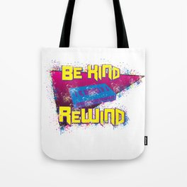 80s 90s Nostalgia Be Kind Rewind VHS Retro Party Gift Tote Bag