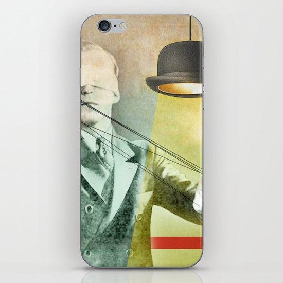 Blindfold bowler iPhone & iPod Skin