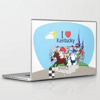 coraline Laptop & iPad Skins featuring Ernest and Coraline | I love Kentucky by Hisame Artwork