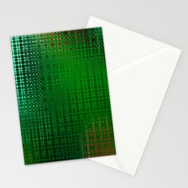 Retro Grid Oasis Stationery Cards
