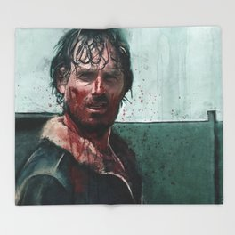 Don't Mess WIth Rick Grimes - The Walking Dead Throw Blanket