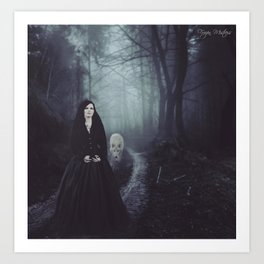 Seven Days To The Wolves Nightwish Inspired Artwork Art Print