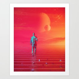Red Mirage Art Print