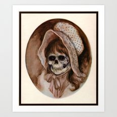 Cowgirl Kid - Thrift Store Creepin' Art Print
