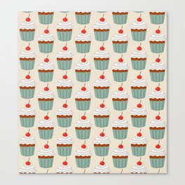 Muffins pattern Canvas Print