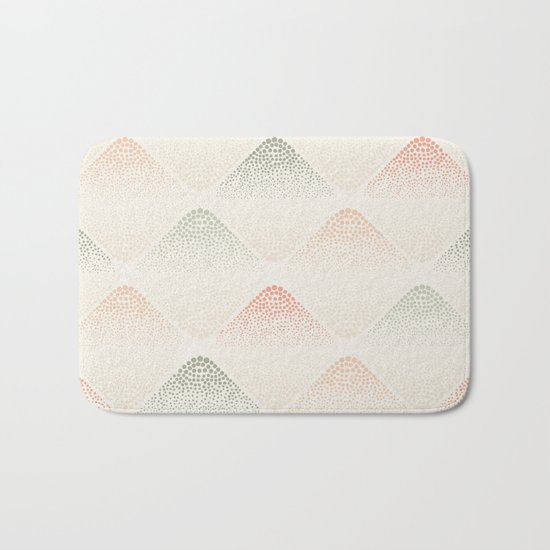 Retro Dotted Pattern 05 Bath Mat