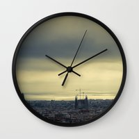 barcelona Wall Clocks featuring Barcelona by Roberta Vilas Boas
