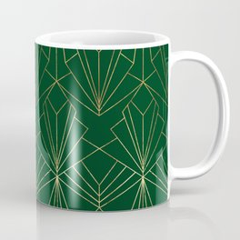 Art Deco in Gold & Green Coffee Mug