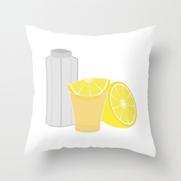 Salt, lemon and tequila Throw Pillow