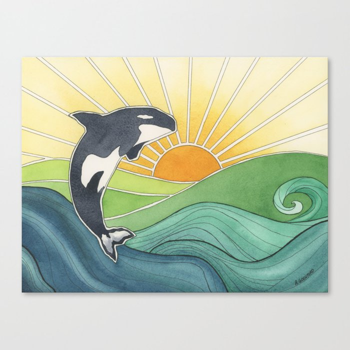 Westcoast Orca Canvas Print