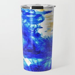 Paint in Water Abstract Travel Mug