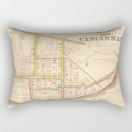 Cincinnati old map Rectangular Pillow