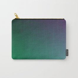 Peacock Green purple blue black ombre waves Carry-All Pouch