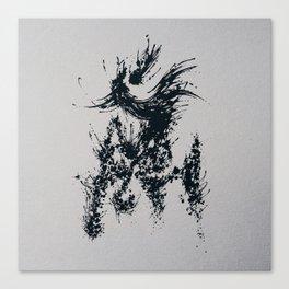 Splaaash Series - Horse Ink Canvas Print