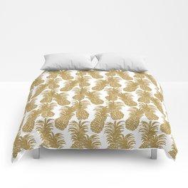 Gold Pineapples Comforters