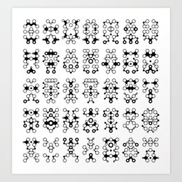 Lichtoglyphs - the language of light Art Print