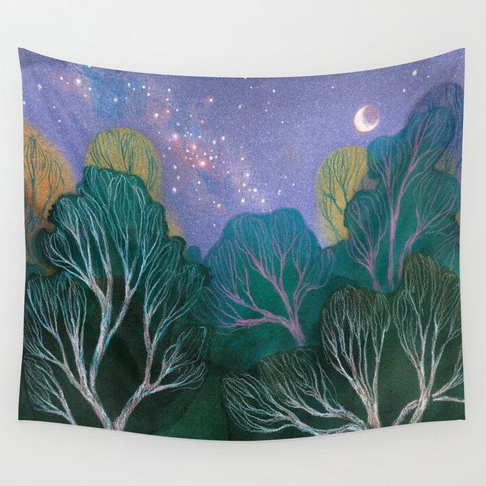 Starlit Woods Wandbehang