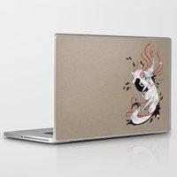 okami Laptop & iPad Skins featuring OKAMI RIBBONS by Rubis Firenos