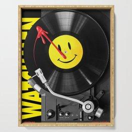 """""""Bloody Turntable"""" Watchmen fan art Serving Tray"""