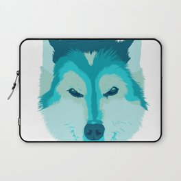 husky - wht Laptop Sleeve