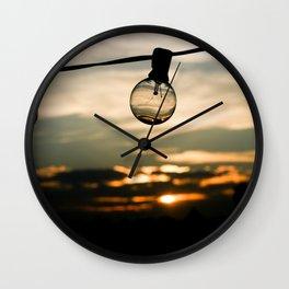 Unlit Sunset.  Wall Clock