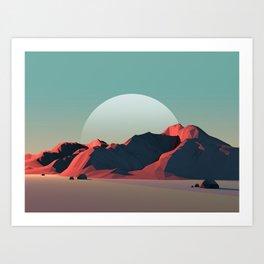 Geometric Landscape VH06 Art Print