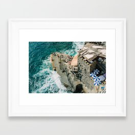 "Travel photography print ""Rocky Beach"" photo art made in Italy. Art Print Framed Art Print"