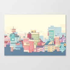 Little Apartments in a Big City Canvas Print