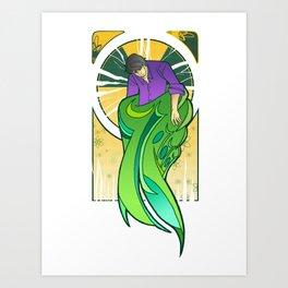Art Nouveau Banner Hulk Art Print