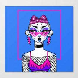 High Voltage (Blue) Canvas Print