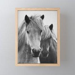 Horses - Black & White 7 Framed Mini Art Print