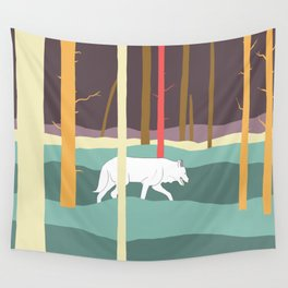 Wolf in a forest Wall Tapestry