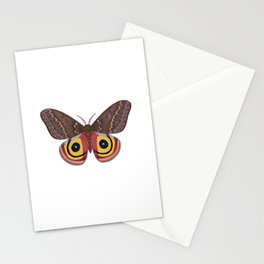 io moth (Automeris io) female specimen 2 Stationery Cards