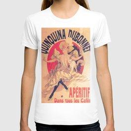 Quinquina Dubonnet 1895 By Jules Cheret | Reproduction Art Nouveau T-shirt