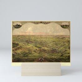 Map Of Lansing 1866 Mini Art Print