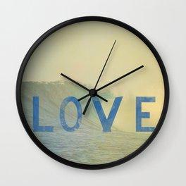 love surf Wall Clock