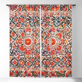Bokhara Suzani  Antique Uzbekistan Floral Rug Print Blackout Curtain
