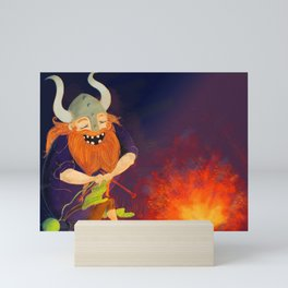 Kniting feber Mini Art Print