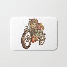 Berserk Steampunk Motorcycle Cat Bath Mat