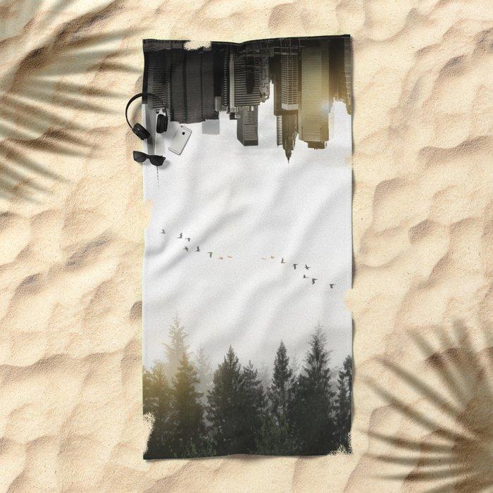 Duality Beach Towel