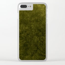 olive green velvet | texture Clear iPhone Case