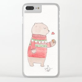 Bear and Robin Clear iPhone Case