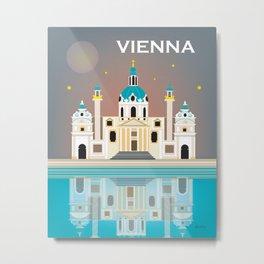 Vienna, Austria - Skyline Illustration by Loose Petals Metal Print