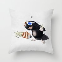 3d Throw Pillows featuring 3D by rob art | illustration