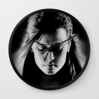 sin city Wall Clocks featuring Sin City by ClaM